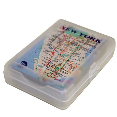 Subway Map Of The Brain.Nyc Subway Map Playing Cards