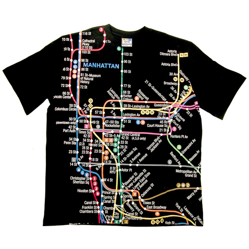 Nyc Subway Map T Shirt