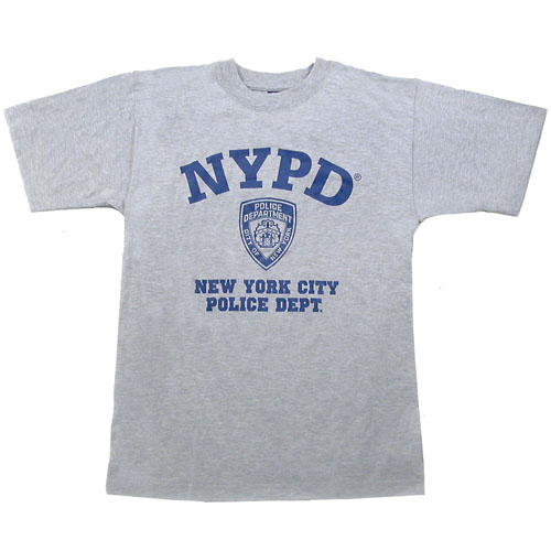Grey nypd t shirt