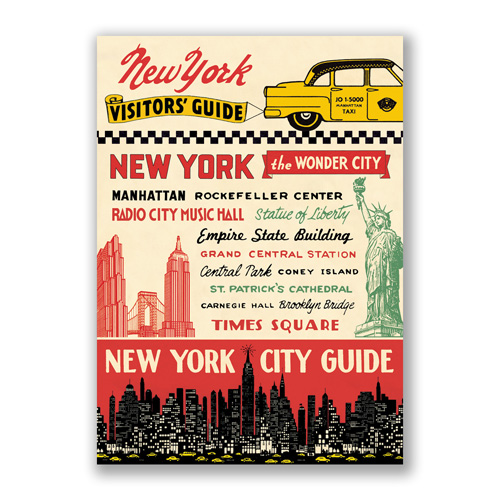 new york visitors guide poster. Black Bedroom Furniture Sets. Home Design Ideas