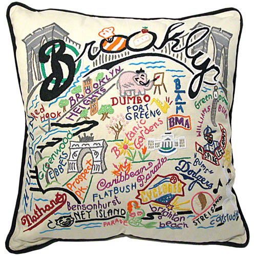 Hand Embroidered Brooklyn Pillow