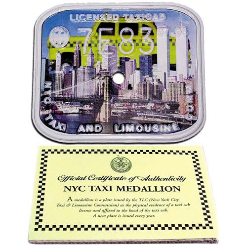 97-98 Taxi Cab Medallion