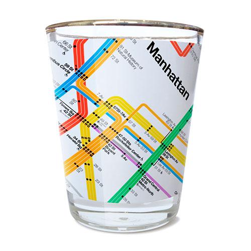 Citystore Subway Map.Subway Map Shot Glass
