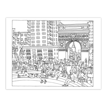 color this book new york city - Abbi Jacobson Coloring Book